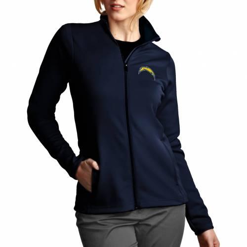 【★スーパーセール中★ 6/11深夜2時迄】ANTIGUA レディース チャージャーズ 紺 ネイビー 【 Womens Los Angeles Chargers Leader Full-zip Navy Jacket 】 Color