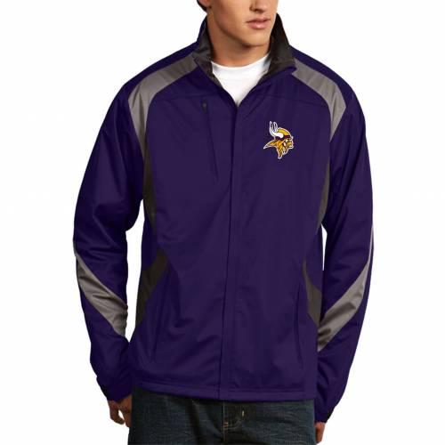 ANTIGUA メンズ ミネソタ バイキングス 紫 パープル メンズファッション コート ジャケット 【 Mens Minnesota Vikings Tempest Purple Full-zip Jacket 】 Color