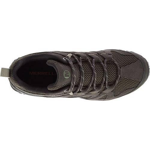 MERRELL スニーカー 運動靴 オリーブ MEN'S スニーカー 【 OLIVE MERRELL ALVERSTONE HIKING SHOES 】 メンズ スニーカー