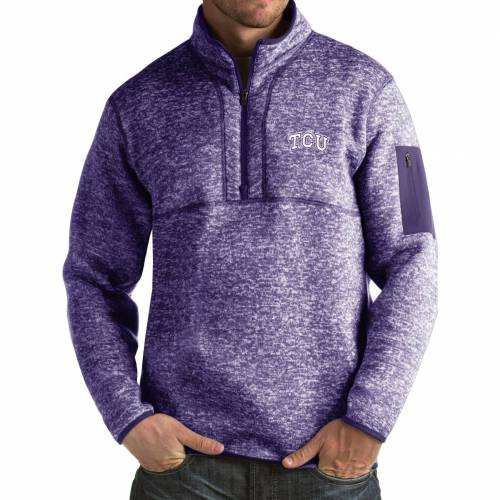 ANTIGUA 紫 パープル MEN'S 【 PURPLE ANTIGUA TCU HORNED FROGS FORTUNE PULLOVER JACKET COLOR 】 メンズファッション コート ジャケット