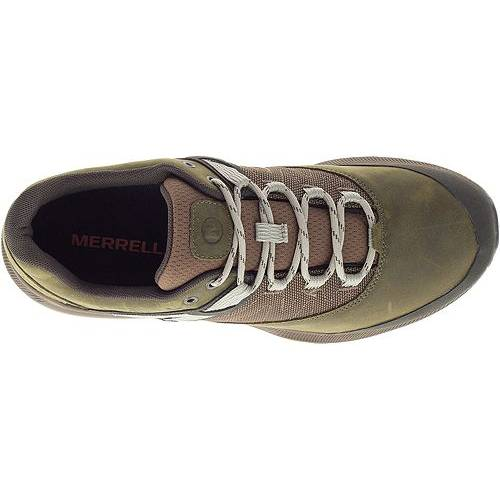 MERRELL スニーカー 運動靴 オリーブ MEN'S スニーカー 【 OLIVE MERRELL ZION HIKING SHOES DARK 】 メンズ スニーカー