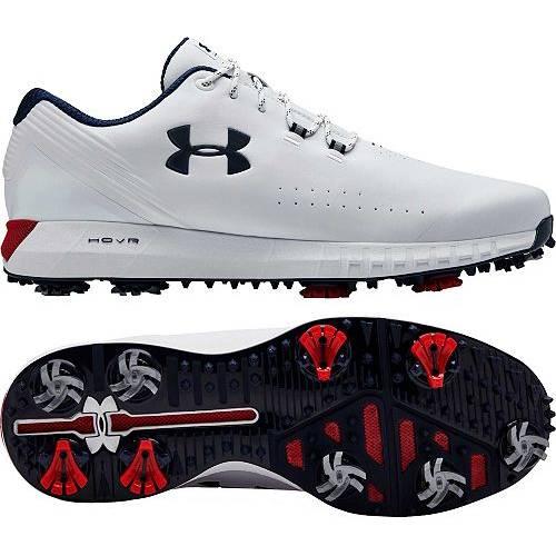アンダーアーマー UNDER ARMOUR メンズ ゴルフ スニーカー 運動靴 【 Mens Hovr Drive Golf Shoes 】 White/red