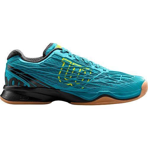 ウィルソン WILSON メンズ テニス スニーカー 運動靴 【 Mens Kaos Indoor Tennis Shoes 】 Black/blue