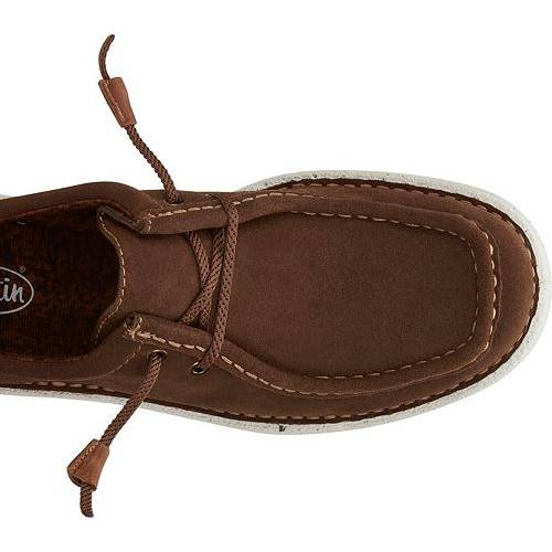 JUSTIN BOOTS スニーカー 運動靴 茶 ブラウン MEN'S スニーカー 【 BROWN JUSTIN BOOTS HAZER CASUAL SHOES 】 メンズ スニーカー