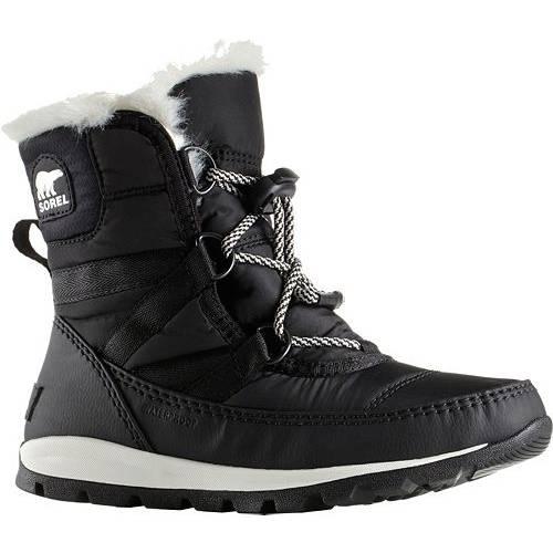 ソレル SOREL ウィンター キッズ ベビー マタニティ ジュニア 【 Kids Whitney Short 200g Waterproof Winter Boots 】 Black/sea Salt