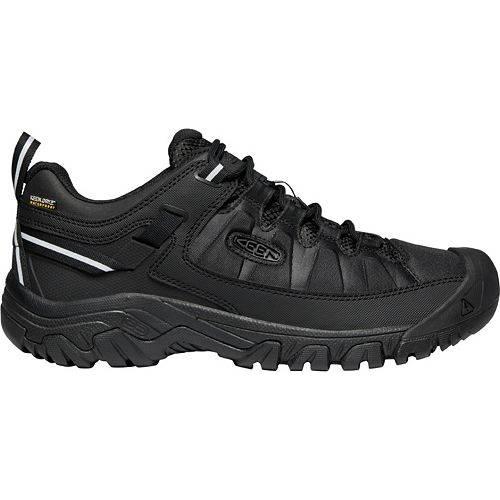KEEN スニーカー 運動靴 黒 ブラック MEN'S スニーカー 【 BLACK KEEN TARGHEE EXP WATERPROOF HIKING SHOES 】 メンズ スニーカー