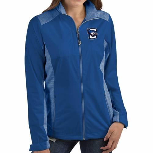 【★スーパーセール中★ 6/11深夜2時迄】ANTIGUA レディース 青 ブルー 【 Womens Creighton Bluejays Blue Revolve Full-zip Jacket 】 Color
