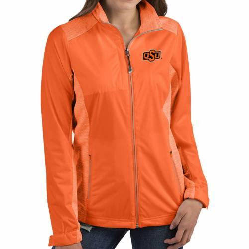 【★スーパーセール中★ 6/11深夜2時迄】ANTIGUA レディース スケートボード カウボーイズ 橙 オレンジ 【 Womens Oklahoma State Cowboys Orange Revolve Full-zip Jacket 】 Color