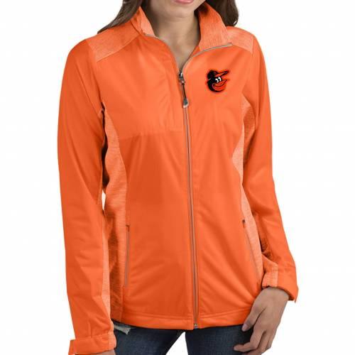 【★スーパーセール中★ 6/11深夜2時迄】ANTIGUA レディース ボルティモア オリオールズ 橙 オレンジ 【 Womens Baltimore Orioles Revolve Orange Full-zip Jacket 】 Color
