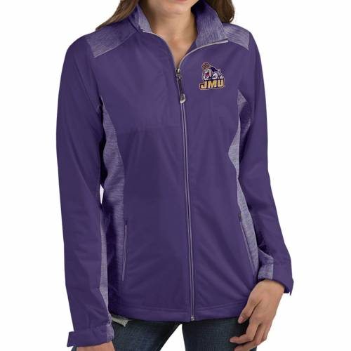 【★スーパーセール中★ 6/11深夜2時迄】ANTIGUA レディース ジェームズ 紫 パープル 【 Womens James Madison Dukes Purple Revolve Full-zip Jacket 】 Color
