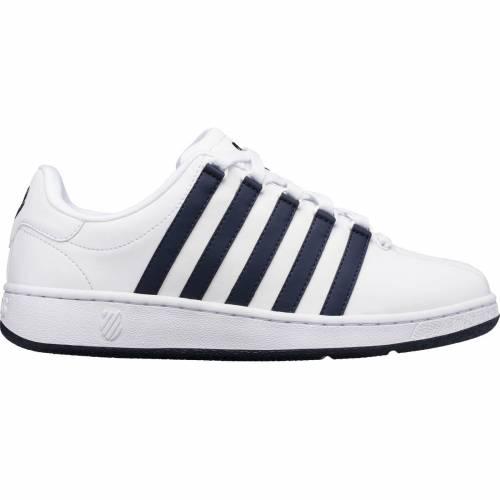 ファッションブランド カジュアル ファッション スニーカー ケースイス K-SWISS クラシック 運動靴 白色 ホワイト 紺色 NAVY KSWISS ネイビー SHOES CLASSIC WHITE 未使用品 VN 手数料無料 MEN'S メンズ