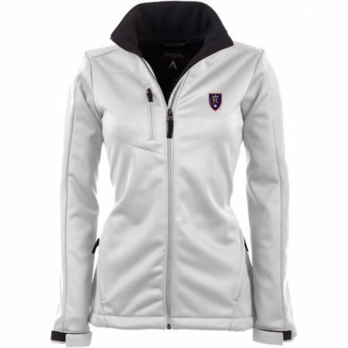 【スーパーセール中! 6/11深夜2時迄】ANTIGUA レディース 白 ホワイト 【 Womens Real Salt Lake Traverse White Soft-shell Full-zip Jacket 】 Color