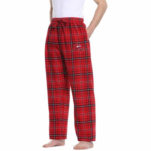 CONCEPTS SPORT ウェスタン ケンタッキー アルティメイト MEN'S 【 ULTIMATE CONCEPTS SPORT WESTERN KENTUCKY HILLTOPPERS RED BLACK SLEEP PANTS COLOR 】 インナー 下着 ナイトウエア メンズ ナイト ルーム パジャ