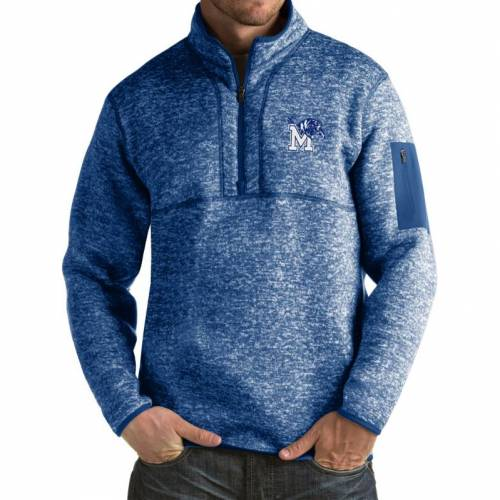 ANTIGUA メンフィス タイガース 青 ブルー MEN'S 【 BLUE ANTIGUA MEMPHIS TIGERS FORTUNE PULLOVER JACKET COLOR 】 メンズファッション コート ジャケット
