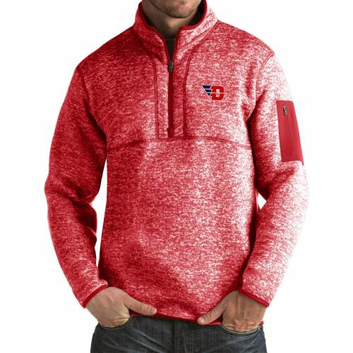 ANTIGUA デイトン 赤 レッド MEN'S 【 RED ANTIGUA DAYTON FLYERS FORTUNE PULLOVER JACKET COLOR 】 メンズファッション コート ジャケット