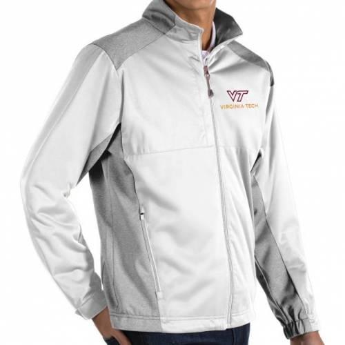 ANTIGUA バージニア テック 白 ホワイト MEN'S 【 WHITE ANTIGUA VIRGINIA TECH HOKIES REVOLVE FULLZIP JACKET COLOR 】 メンズファッション コート ジャケット