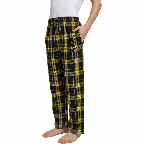 CONCEPTS SPORT イーグルス MEN'S 【 CONCEPTS SPORT SOUTHERN MISS GOLDEN EAGLES BLACK GOLD HILLSTONE FLANNEL SLEEP PANTS COLOR 】 インナー 下着 ナイトウエア メンズ ナイト ルーム パジャマ
