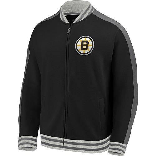 FANATICS ボストン 黒 ブラック トラック MEN'S 【 BLACK FANATICS NHL BOSTON BRUINS VARSITY FULLZIP TRACK JACKET COLOR 】 メンズファッション コート ジャケット