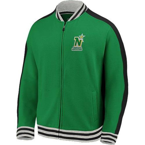 FANATICS ミネソタ ノース 緑 グリーン トラック MEN'S 【 GREEN FANATICS NHL MINNESOTA NORTH STARS VARSITY FULLZIP TRACK JACKET COLOR 】 メンズファッション コート ジャケット