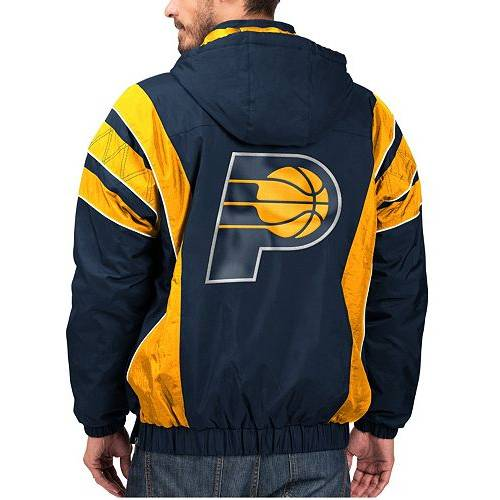 G-III ジースリー インディアナ ペイサーズ MEN'S 【 GIII STARTER INDIANA PACERS HOODED PULLOVER JACKET COLOR 】 メンズファッション コート ジャケット