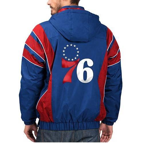 G-III ジースリー フィラデルフィア セブンティシクサーズ MEN'S 【 76ERS GIII STARTER PHILADELPHIA HOODED PULLOVER JACKET COLOR 】 メンズファッション コート ジャケット
