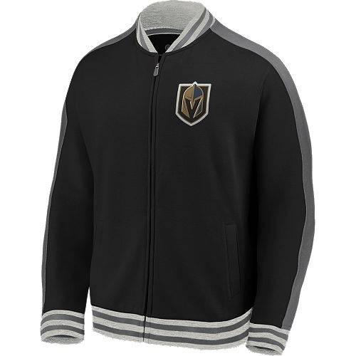 FANATICS 黒 ブラック トラック MEN'S 【 BLACK FANATICS NHL VEGAS GOLDEN KNIGHTS VARSITY FULLZIP TRACK JACKET COLOR 】 メンズファッション コート ジャケット