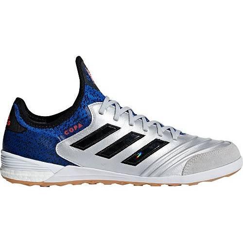 アディダス ADIDAS メンズ サッカー スニーカー 運動靴 18.1 【 Mens Copa Tango 18.1 Indoor Soccer Shoes 】 Silver/blue