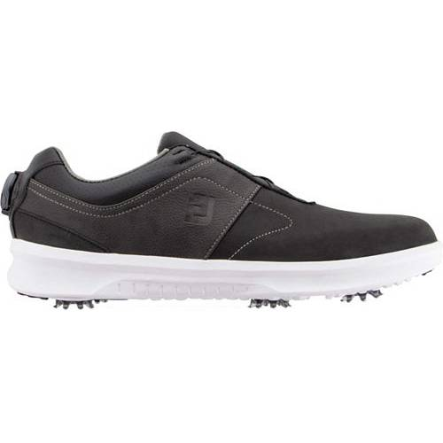 FOOTJOY メンズ ゴルフ スニーカー 運動靴 【 Mens Contour Boa Golf Shoes 】 Black/charcoal