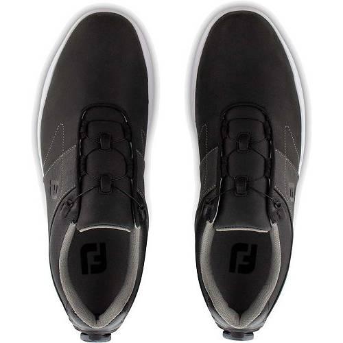 FOOTJOY ゴルフ スニーカー 運動靴 黒 ブラック チャコール MEN'S スニーカー 【 GOLF BLACK FOOTJOY CONTOUR BOA SHOES CHARCOAL 】 メンズ スニーカー