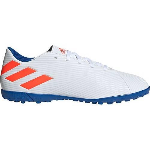 アディダス ADIDAS メンズ ターフ サッカー 19.4 スニーカー 【 Mens Nemeziz Messi 19.4 Turf Soccer Cleats 】 White/blue