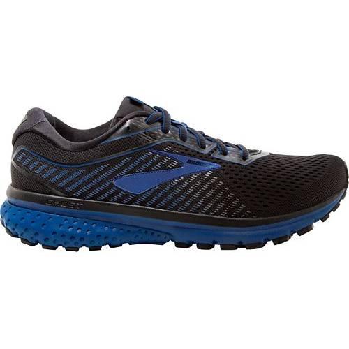ブルックス BROOKS スニーカー 運動靴 黒 ブラック 青 ブルー MEN'S スニーカー 【 BLACK BLUE BROOKS GHOST 12 RUNNING SHOES 】 メンズ スニーカー