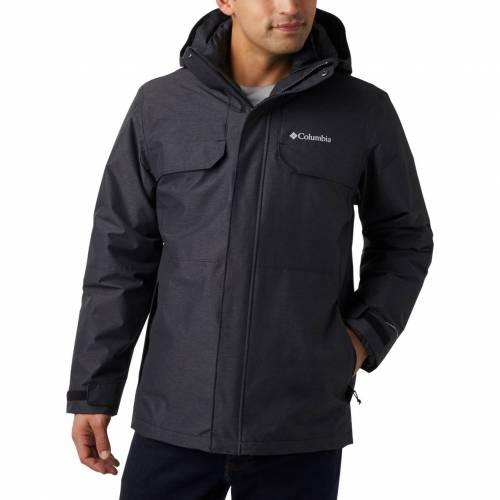 コロンビア COLUMBIA 黒 ブラック MEN'S 【 BLACK COLUMBIA CLOVERDALE INTERCHANGE JACKET 】 メンズファッション コート ジャケット