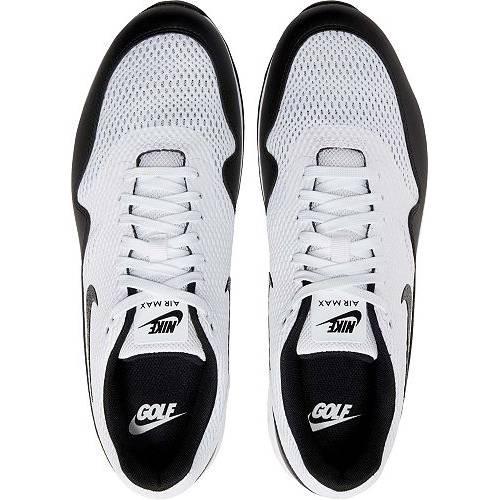 ナイキ NIKE エア マックス ゴルフ スニーカー 運動靴 白 ホワイト 黒 ブラック MEN'S スニーカー 【 AIR GOLF WHITE BLACK NIKE 2020 MAX 1 G SHOES 】 メンズ スニーカー