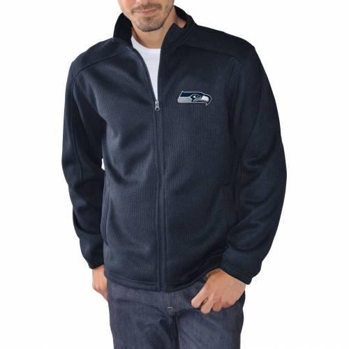 G-III ジースリー シアトル シーホークス 紺 ネイビー MEN'S 【 NAVY GIII SEATTLE SEAHAWKS AUDIBLE FULLZIP JACKET COLOR 】 メンズファッション コート ジャケット