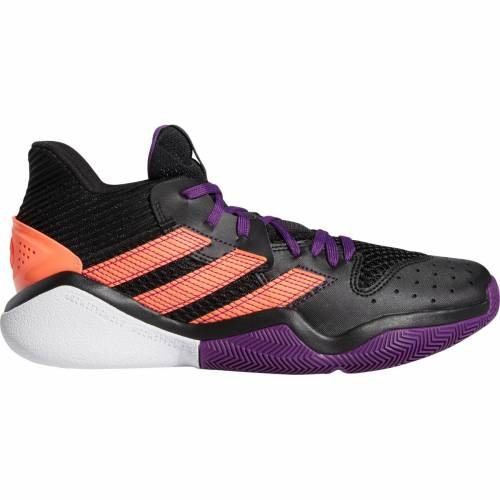 アディダス ADIDAS ハーデン バスケットボール スニーカー 運動靴 黒 ブラック 紫 パープル スニーカー 【 BLACK PURPLE ADIDAS HARDEN STEPBACK BASKETBALL SHOES 】 メンズ スニーカー