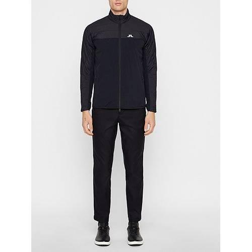 J.LINDEBERG ウィンター ハイブリッド ゴルフ 黒 ブラック J.LINDEBERG MEN'S 【 HYBRID GOLF BLACK WINTER JACKET 】 メンズファッション コート ジャケット