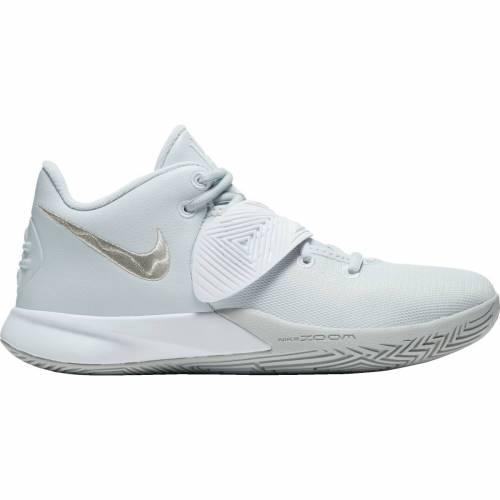 ナイキ NIKE カイリー バスケットボール スニーカー 運動靴 銀色 シルバー 白 ホワイト スニーカー 【 KYRIE SILVER WHITE NIKE FLYTRAP 3 BASKETBALL SHOES METALLIC 】 メンズ スニーカー