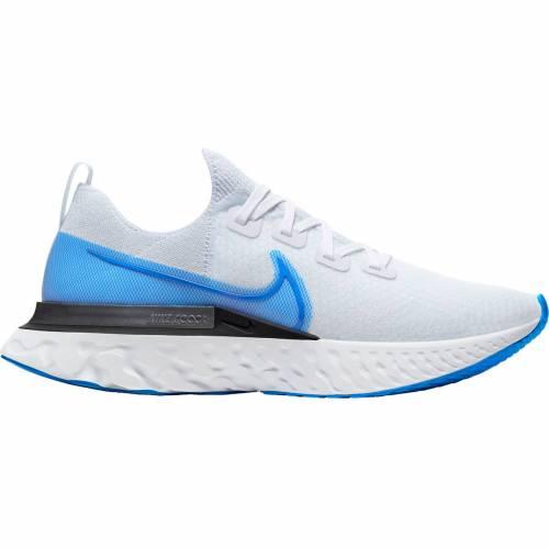 ナイキ NIKE ラン フライニット スニーカー 運動靴 白 ホワイト 青 ブルー MEN'S スニーカー 【 WHITE BLUE NIKE REACT INFINITY RUN FLYKNIT RUNNING SHOES 】 メンズ スニーカー