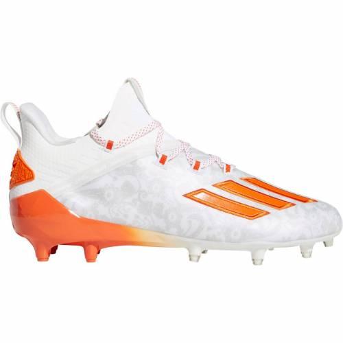 アディダス ADIDAS アディゼロ 白 ホワイト 橙 オレンジ MEN'S スニーカー 【 WHITE ORANGE ADIDAS ADIZERO NEW REIGN FOOTBALL CLEATS 】 メンズ スニーカー