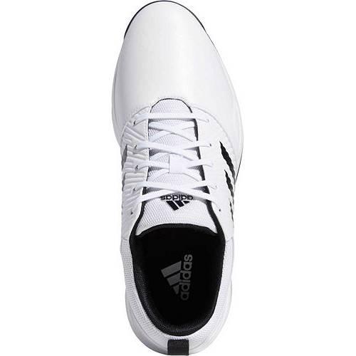 アディダス ADIDAS ゴルフ スニーカー 運動靴 白 ホワイト 黒 ブラック MEN'S スニーカー 【 GOLF WHITE BLACK ADIDAS CP TRAXION SL SHOES 】 メンズ スニーカー