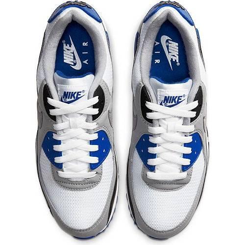 ナイキ NIKE エア マックス スニーカー 運動靴 白 ホワイト 青 ブルー MEN'S スニーカー 【 AIR WHITE BLUE NIKE MAX 90 SHOES ROYAL 】 メンズ スニーカー