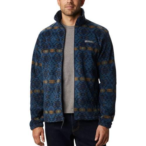 コロンビア COLUMBIA フリース 青 ブルー MEN'S 【 BLUE COLUMBIA STEENS MOUNTAIN PRINT FLEECE JACKET CANYON BLANKET 】 メンズファッション コート ジャケット