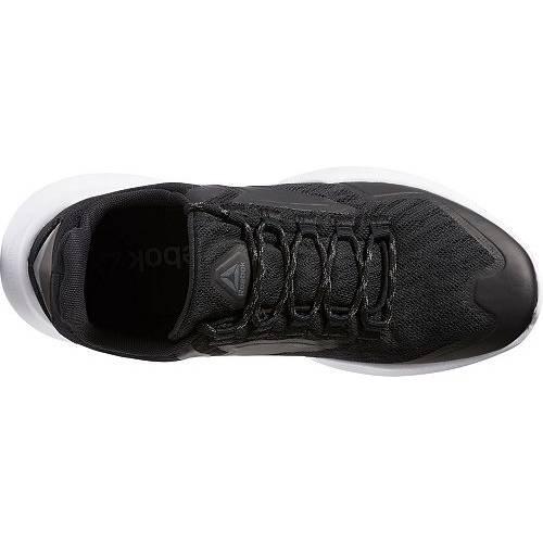 リーボック REEBOK リーボック スニーカー 運動靴 黒 ブラック 灰色 グレ 白 ホワイト MEN'S スニーカー 【 REEBOK BLACK WHITE SPLIT FUEL SHOES GREY 】 メンズ スニーカー