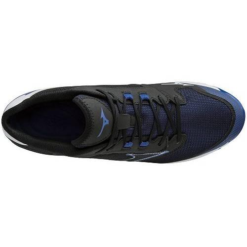 ミズノ MIZUNO メタル ベースボール 黒 ブラック 青 ブルー MEN'S スニーカー 【 BLACK BLUE MIZUNO 9SPIKE DOMINANT IC METAL BASEBALL CLEATS 】 メンズ スニーカー