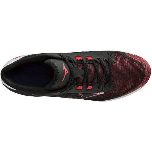 ミズノ MIZUNO メタル ベースボール 黒 ブラック 赤 レッド MEN'S スニーカー 【 BLACK RED MIZUNO 9SPIKE DOMINANT IC METAL BASEBALL CLEATS 】 メンズ スニーカー