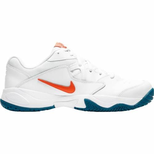 ファッションブランド カジュアル ファッション スニーカー ナイキ NIKE カウント ライト テニス 運動靴 交換無料 白色 ホワイト メンズ 新作送料無料 LITE TENNIS WHITE SHOES ORANGE COURT MEN'S 橙 2 オレンジ