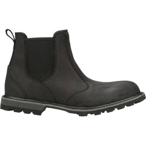 MUCK BOOTS メンズ レザー スニーカー 【 Mens Chelsea Leather Waterproof Ankle Boots 】 Black