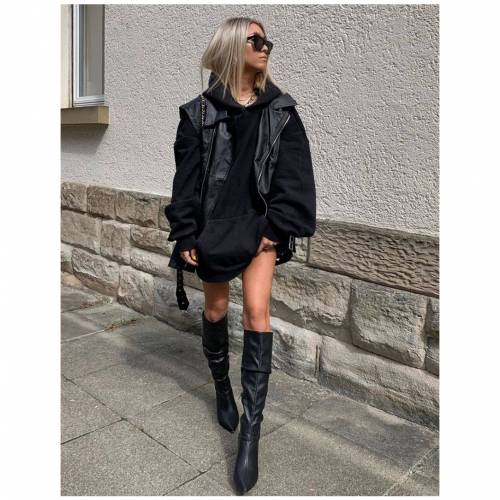 PUBLIC DESIRE 黒 ブラック ハイ レディース 【 Mine Black Pu Knee High Boots 】 Black