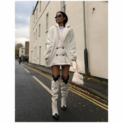 PUBLIC DESIRE ハイ レディース 【 Brandy Stone Western Block Heeled Knee High Boots 】 Multi