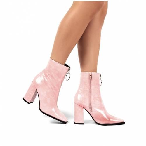 ファッションブランド カジュアル SALE ファッション スニーカー 初回限定 PUBLIC DESIRE ピンク ANKLE BOOT PAYBACK CROC ブーツ PINK ZIP